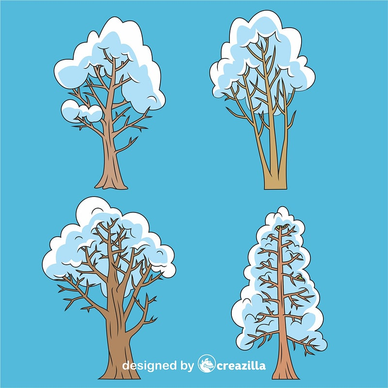 Winter trees vector