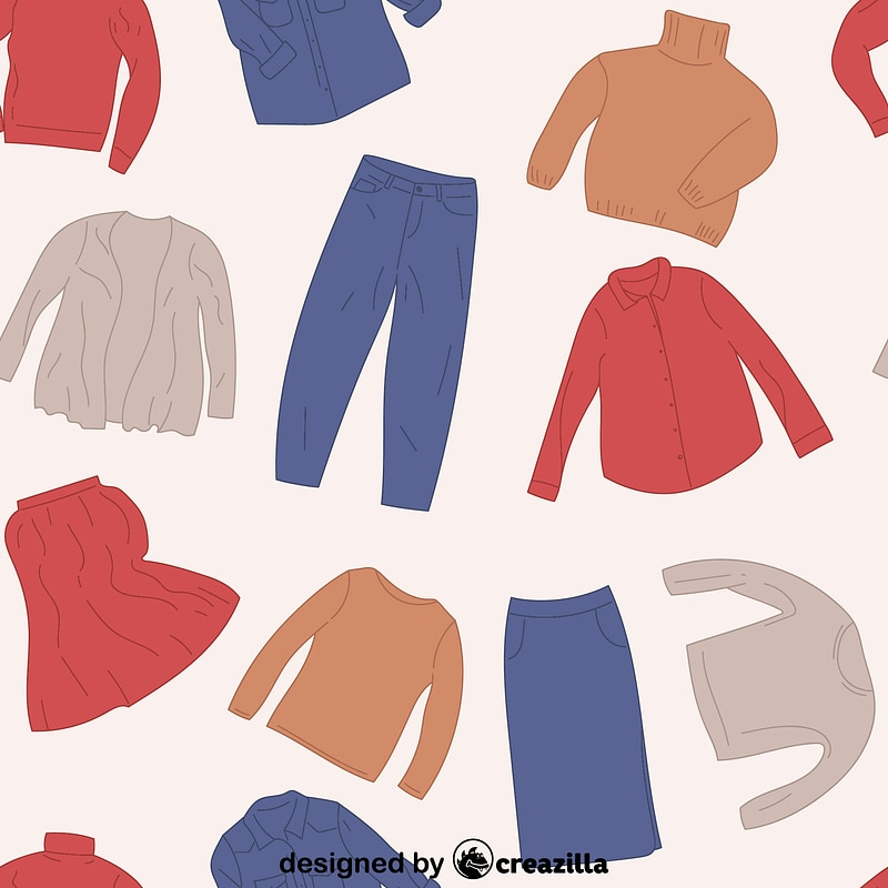 Clothes pattern vector