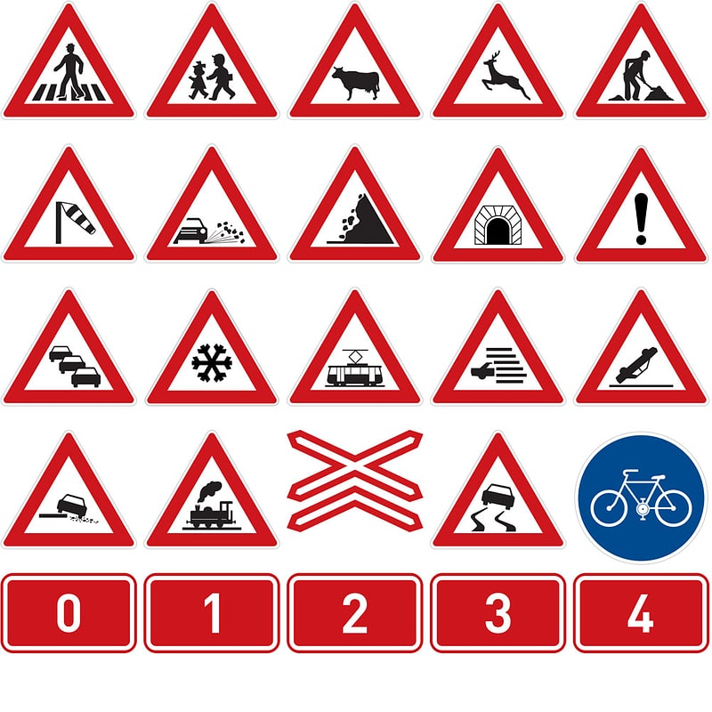 Road Signs of the Czech Republic vector