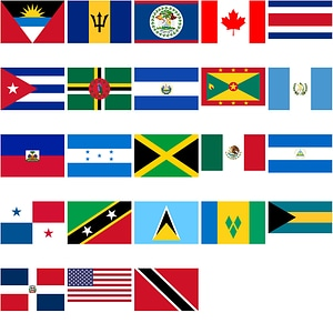 Flags of North American Countries vector