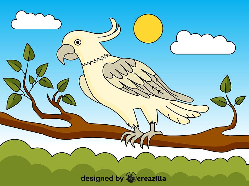 Cockatoo vector