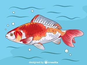 Wakin Goldfish vector