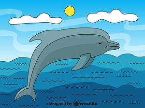 イルカ ベクターイメージ狐