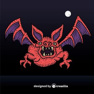 Scary bat vector