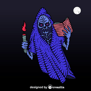 Scary ghost vector