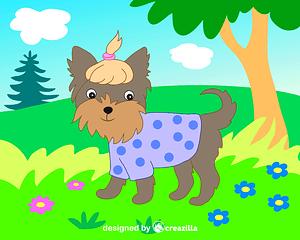 Yorkshire terrier vector