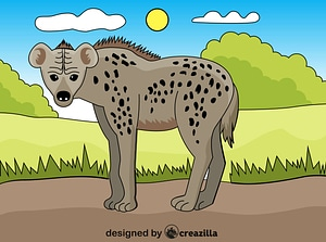 Spotted Hyena vector