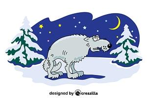 Arctic Wolf vector