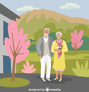 Senior citizens vector