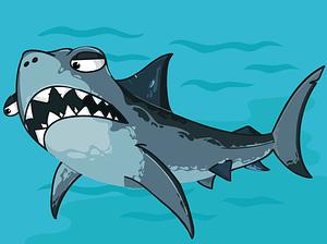Vector de Cartoon shark