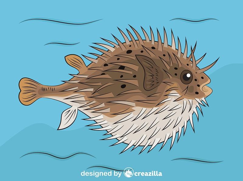 Blowfish vector
