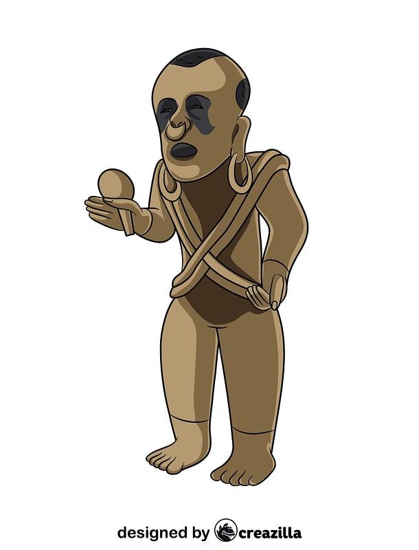 Xipe Totec Aztec Statue vector
