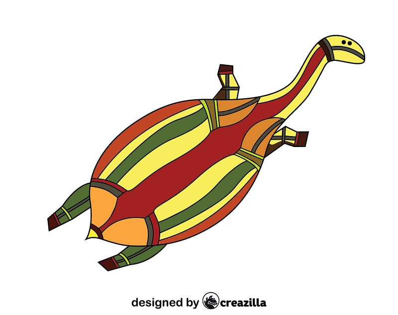Turtle Traditional Aboriginal Art Vetor vector