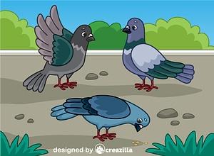Three Doves vector