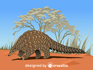 Giant Pangolin vector