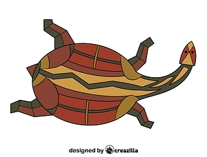 Turtle Aboriginal Rock Art vector