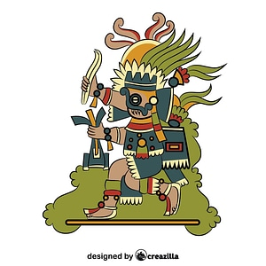 Tlaloc - Aztec God of the Rain vector