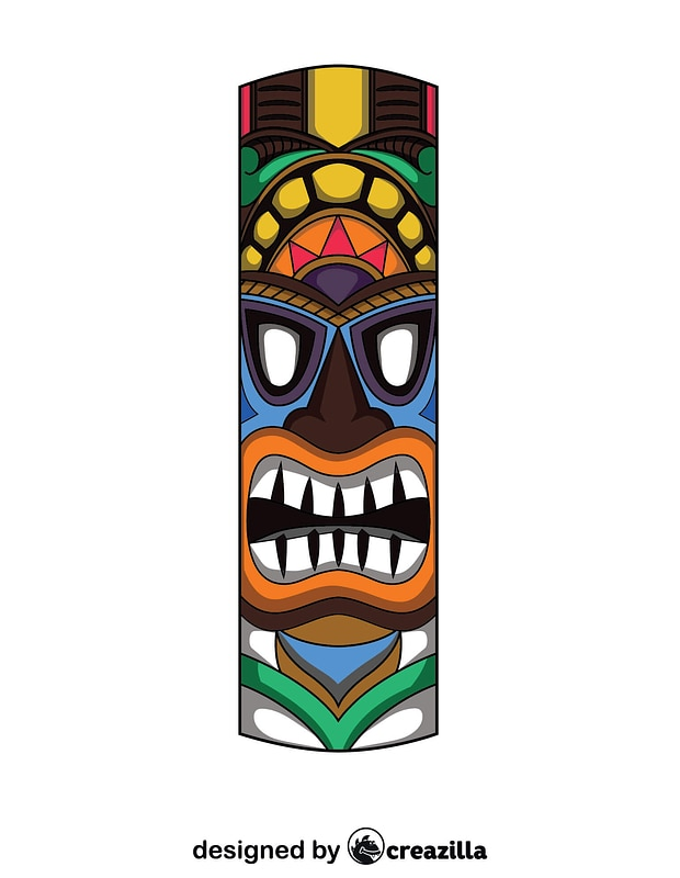 Tiki Mask vector