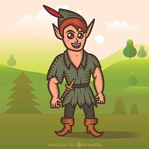 Peter Pan vector