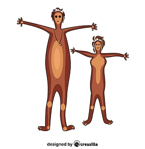 Aboriginal Painting Man and Woman vector