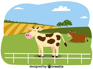 Animals on the farm - cow vector