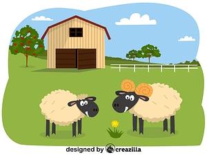 Animals on the farm - sheep vector