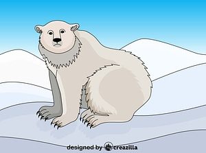 Polar beer vector