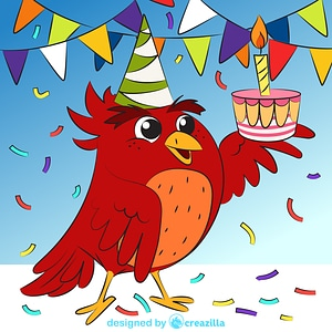 Bird's birthday vector