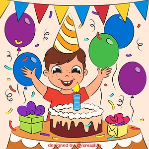 Boy's birthday vector