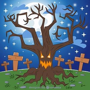 Vector de Haunted tree