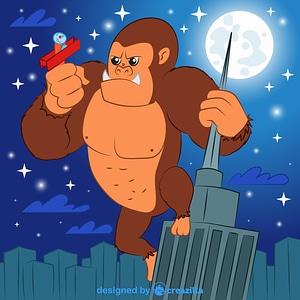 Immagine vettoriale di King Kong