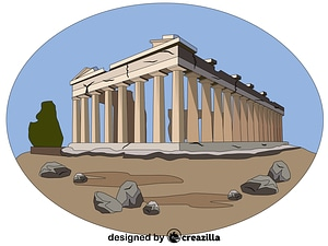 Acropolis of Athens vector