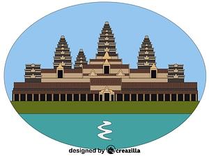 Векторное изображение: Angkor Wat