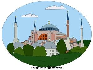 Векторное изображение: Hagia Sophia