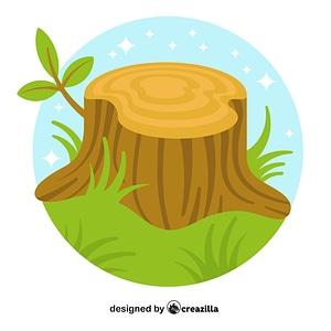 Tree stump vector