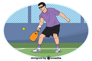 Pickleball vector