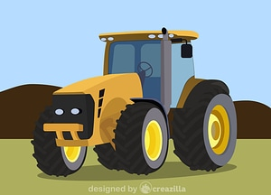 Agriculture tractor vector