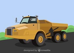 Articulated truck vector