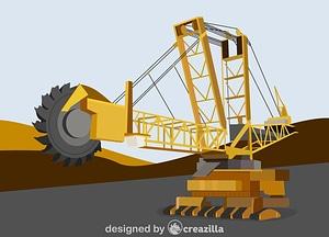 Bucket wheel excavator vector