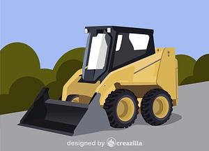 Skid steer loader vector