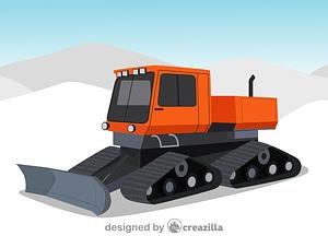 Snowcat vector