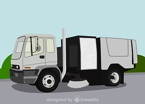 Vector de Street sweeper