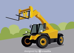 Vector de Telescopic handler