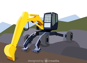 Vector de Walking excavator