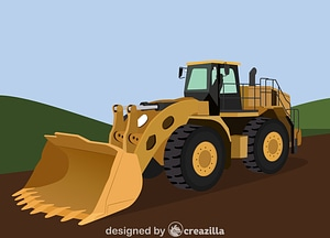 Vector de Wheel loader