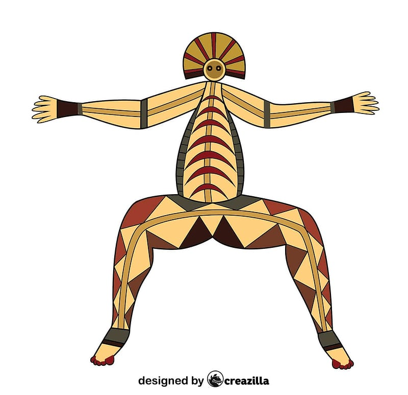 Aboriginal Rock Art Australia vector