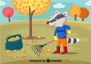 Vector de Badger cleanup the garbage