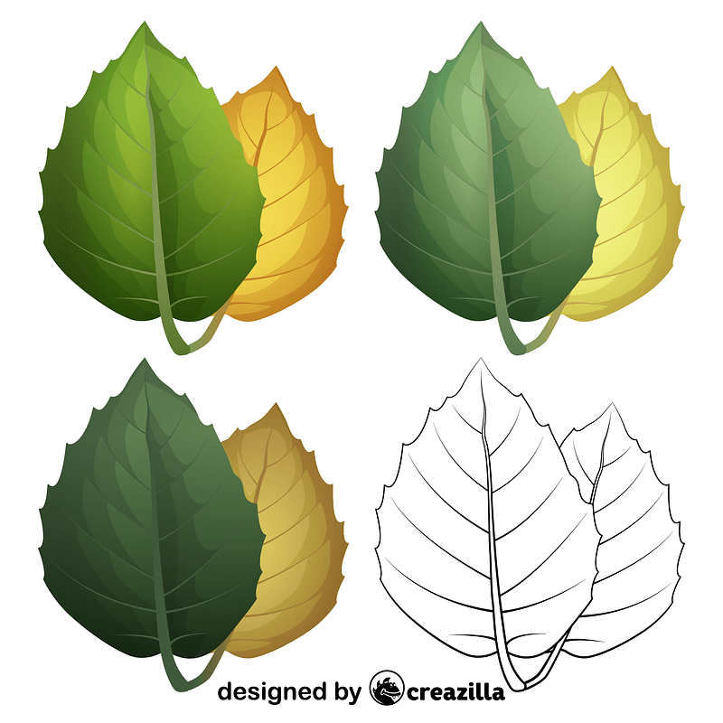 Golden oak leaves vector