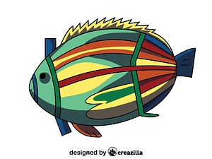 Aboriginal Rock Art Fish vector