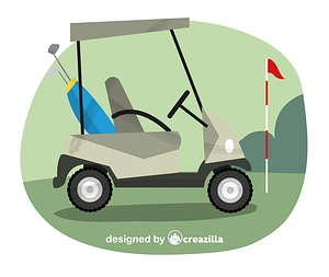 Vector de Golf cart